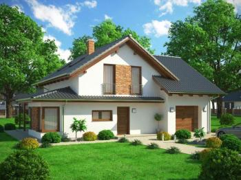 3D vizualizace typového rodinného domu