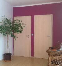 Plné křídlové dveře, fólie javor, kování M&T Garanti rozetové