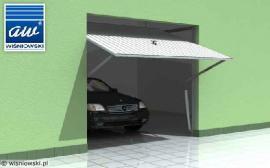 Výklopná garážová vrata, 3D vizualizace