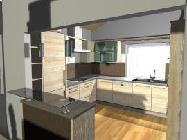 3D vizualizace kuchyně