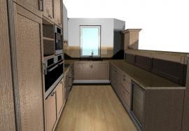 3D vizualizace moderní kuchyně