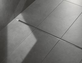 """Sprchový žlábek """"Advantix Vario"""" je vhodný i pro spolehlivé odvádění většího množství vody. Na milimetr přesná úprava základního tělesa kromě toho zajistí instalaci bez vady na kráse."""