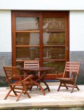 Dřevěné terasové dveře