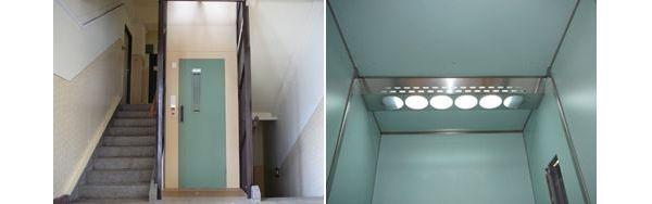 Modernizovaný výtah, výtahová kabina