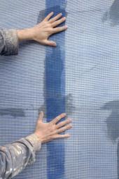 Síťovina na fasádním polystyrenu
