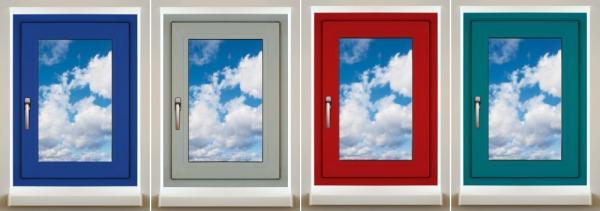 Vybrané barevné varianty hliníkových oken Slovaktual