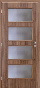 Interiérové dýhované dveře Rustic, dýha ořech
