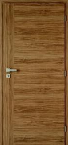 Interiérové dveře plné, kombi dekor – kašír ořech