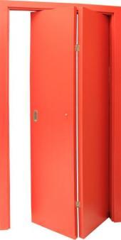 Skládací dveře, lamino oranžová