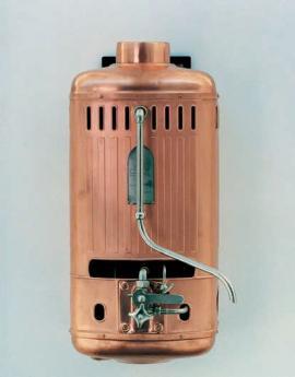 Jeden z prvních plynových ohřívačů