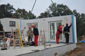 Stavba 22 tisícého montovaného domu od RD Rýmařov