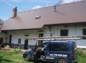 Dokončená střecha