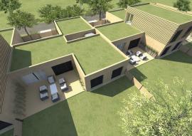 I na zelenou plochou střechu lze nakonec přistavět další podlaží