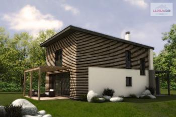 3D vizualizace typového rodinného domu Typ A