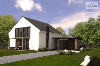 3D vizualizace typového rodinného domu Typ B