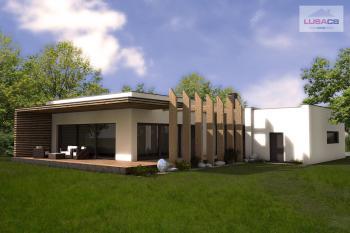 3D vizualizace typového rodinného domu Typ E