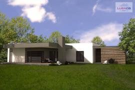 3D vizualizace typového rodinného domu Typ C