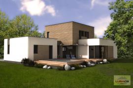 3D vizualizace typového rodinného domu Typ D