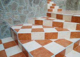 Kamenný obklad v interiéru a keramická dlažba