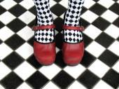 Původní dlažba - šachovnice