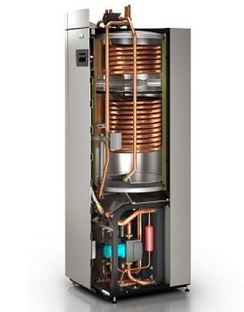 Tepelné čerpadlo země-voda integrované ve vnitřní tepelné centrále EcoHeat300