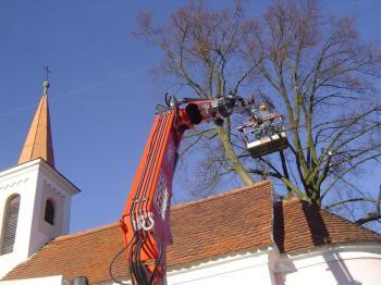 Odstraňování větví ve výšce