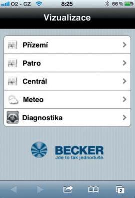 Ovládání přes iPhone nebo jiný smartphone, případně tablet, je velmi jednoduché.