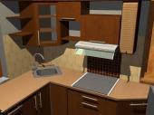 Realizovaná kuchyně, 3D návrh