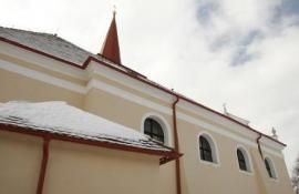 Okapy Lindab Rainline v zimě