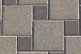 Betonová zámková dlažba skládaná do mozaiky