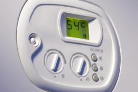 Ovládání a displej plynového kotle