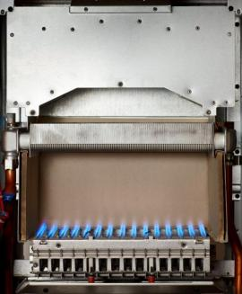 Pohled do plynového kotle