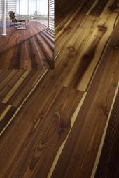 Dřevěná plovoucí podlaha - kartáčovaná douglaska