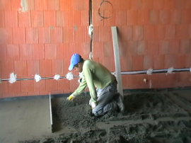 Pokládka cementového betonu