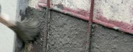 Nanesení adhezního můstku a minerální ochrany výstuže TS 110 na očištěný podklad