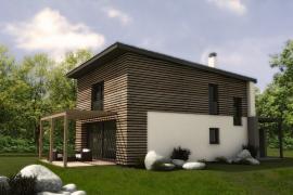 Vizualizace typového rodinného domu Typ A