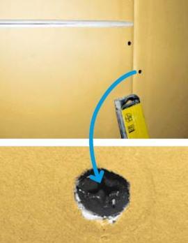 Pro čisté zapuštění šroubu do kartonu se využívají šrouby XTN, detail šroubu XTN po zapuštění