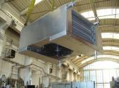 Podstropní dvouzónový výparník s elektrickým ohřevem