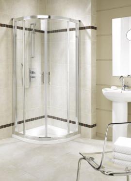 Čtvrtkruhový sprchový kout Geo 6
