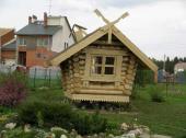 Dřevěný dětský domek