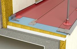Schéma hydroizolace balkonu fólií FATRAFOL