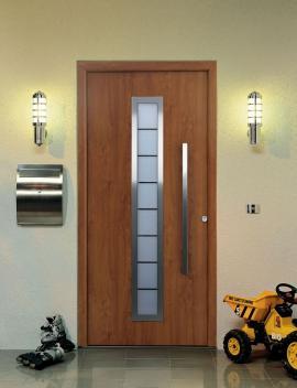 Domovní dveře TopPrestige s povrchovou úpravou Decograin Zlatý dub - Hörmann