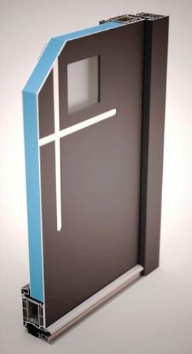 Technologie překrytí křídla u dveřní výplně GFK