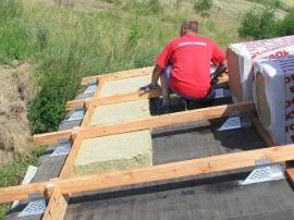 Zateplení střechy nad krokvemi