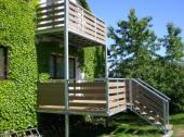 Realizovaná terasa a balkón - kovová konstrukce