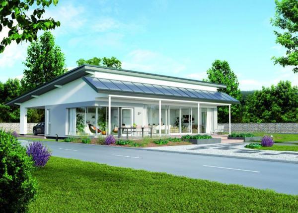 Pasivní dům Bungalov 146 od ELK, 3D vizualizace