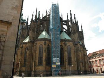 Opěrák č. 9, Katedrála sv. Víta, Václava a Vojtěcha, Pražský hrad, restaurátorské kamenické práce