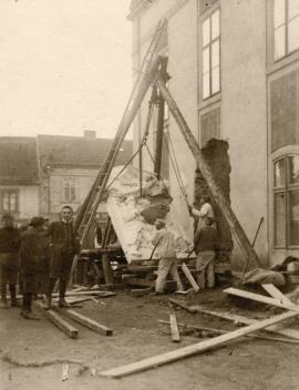 Zhotovení památníku padlým 1. světové války, Říčany, 1928