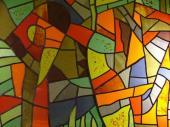 Tiffany plošná mozaika