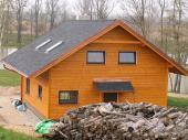 Dokončená střecha novostavby